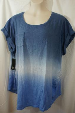 1X WOMENS A.N.A. MATERNITY TEE SHIRT TOP RUCHED SIDES NWT! $