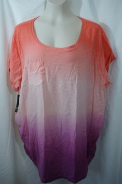 2X WOMENS A.N.A. MATERNITY TEE SHIRT TOP RUCHED SIDES NWT! $