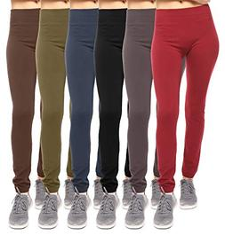 6 Pack Seamless Fleece Lined Leggings for Women - Winter, Wo