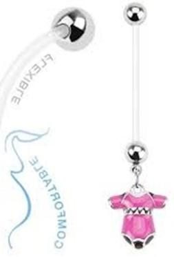 Belly Ring Pregnancy Maternity Baby Clothes Pink Dangle Nava