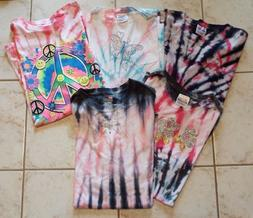 LOT OF 5 NEW TIE DYE T-SHIRTS MADE W/ COMMERCIAL GRADE DYE.