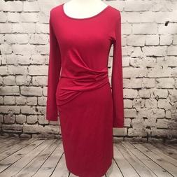 NWT Queen Mum Maternity Ruched Pink Dress Size S Maternity D