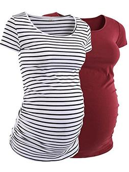 AnnAnn Womens Motherhood Maternity Side Ruched Tunic Tops Sc