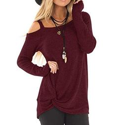 Blouse Tops for Women, Sttech1 Women Fashion Comfy Loose Lon