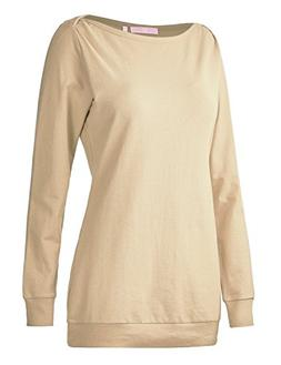 Regna X Boho for Woman's Activewear Daily Tops Beige 3XL Plu