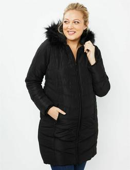 Brand New! Motherhood Maternity - Black Quilted Puffer Mater