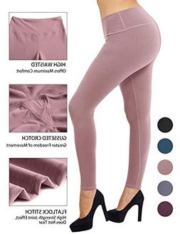 LARACE Women Buttery Soft Yoga Waist Solid Leggings