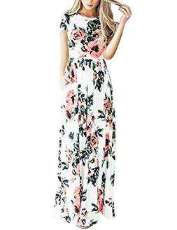 casual floral maxi long party