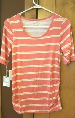 casual maternity clothes small top pink short