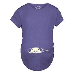 Maternity Baby Peeking T Shirt Funny Pregnancy Tee for Expec