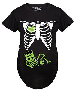 Crazy Dog T-Shirts Maternity Frankenstein Baby Bump Fall Hal