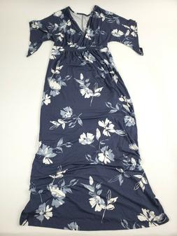 FLORAL PRINT KIMONO SHORT SLEEVE MATERNITY DRESS - ISABEL MA