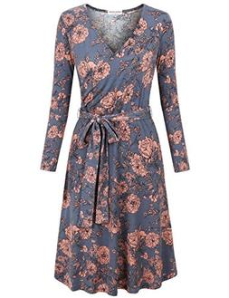 MOOSUNGEEK Floral Printed Dress, Form Fitting Dresses for Wo