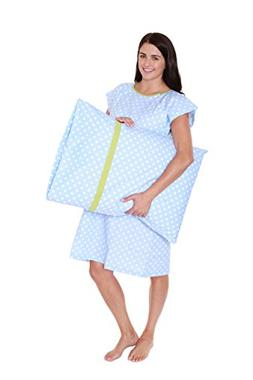 Baby Be Mine Nicole Gownie Hospital Gown with Pillowcase, S/