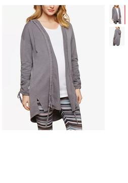 gray open front hoodie jacket size xl