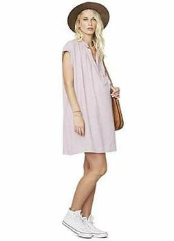 Hatch LILAC GINGHAM Maternity The Louise Dress, Size 2