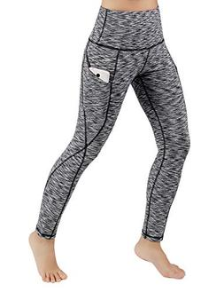 ODODOS High Waist Out Pocket Yoga Pants Tummy Control Workou