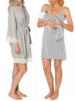 Angel Maternity Hospital Pack Nursing Dress Hospital Robe +