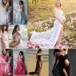 Hot Pregnant Women Lace Maxi Dress Maternity Gown Photograph