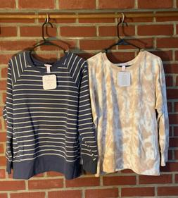 Ingred And Isabel Maternity Pregnancy Sweatshirts Lot Of 2 -