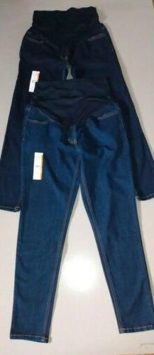 2 Lot Time And Tru Denim Medium Maternity Stretchy Jeans