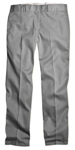 Dickies 874SV 28 32 Mens Plain Front Work Pant Silver 28 - 3