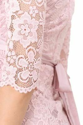 Hello Women's shower Lace Dress Pink