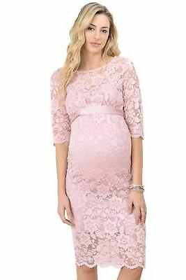 Hello Miz Women's Baby shower floral Lace Maternity Dress Pi
