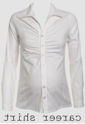 NEW Ripe size Classic White Ruched Sleeve