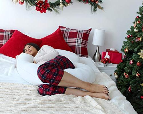 PharMeDoc Pillow Maternity for C Shaped Body w/100% Cotton Pillow