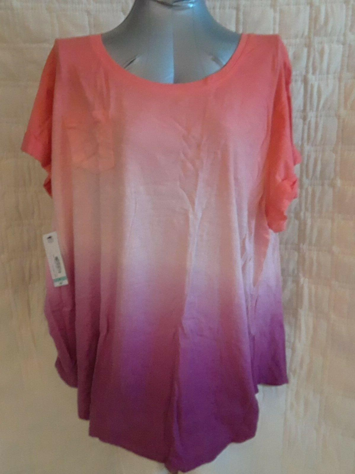 WOMENS A.N.A. MATERNITY SOHO TEE SHIRT, RUCHED SIDES, MULTI,