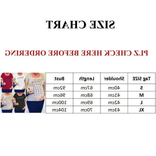 Baby T-Shirt Pregnancy Maternity Loose Blouse Tee Clothes Jumper