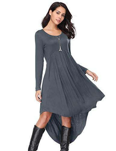 LARACE Women's Sleeve High Dress - Deep Gray, S