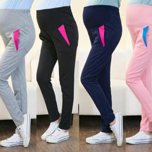 elastic waist maternity leisure trousers for pregnancy