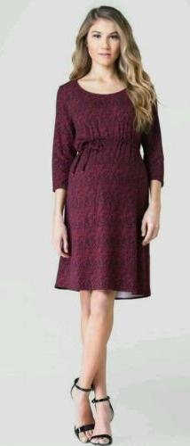 EXPECTED Lilac Clothing Maternity Red/Black Tie Sheath Dress