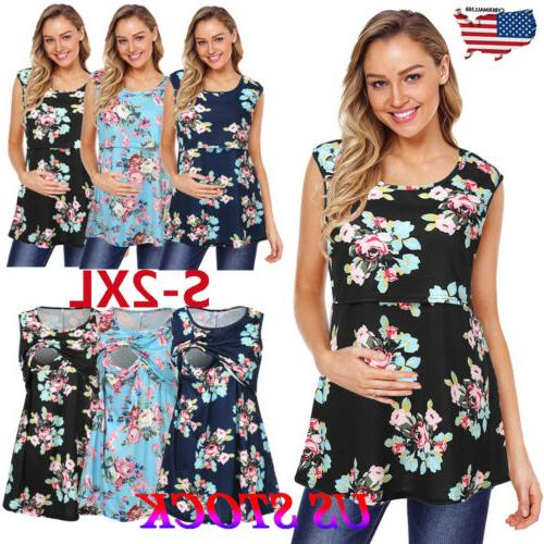 fashion pregnant maternity clothes nursing tops mom