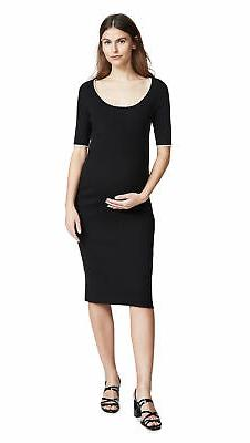 Hatch BLACK/IVORY Maternity The Celine Dress, Size 1