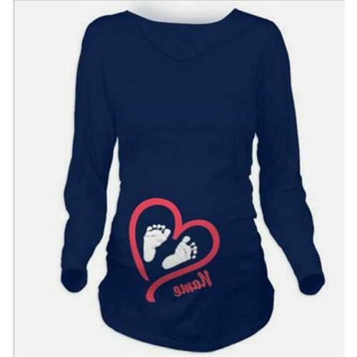 Lady Maternity Sleeve T-Shirt Clothes