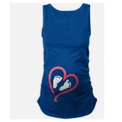 Lady Maternity Sleeve Baby Foot T-Shirt Pregnant