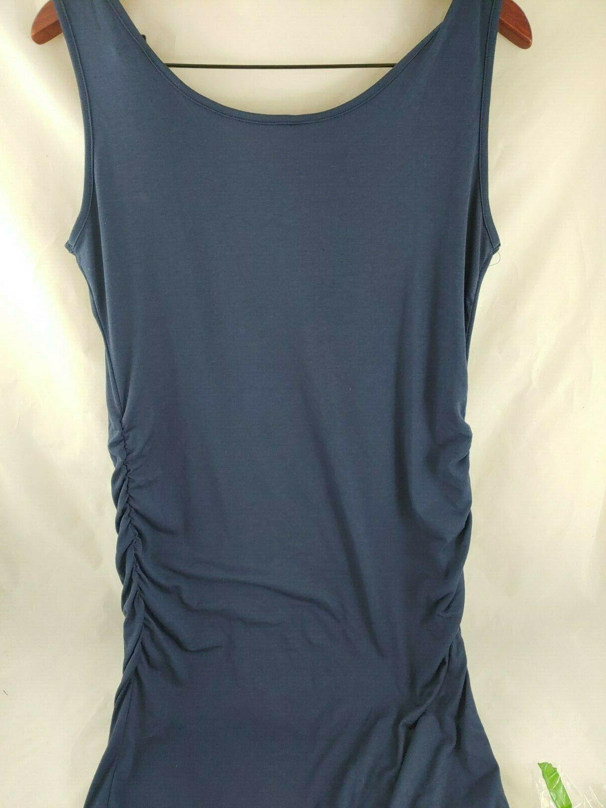 Liu & Qu Women's Maternity Tank Bodycon Navy Blue Size Large