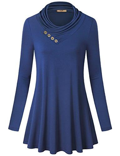 long sleeves tops for women cotton pullover