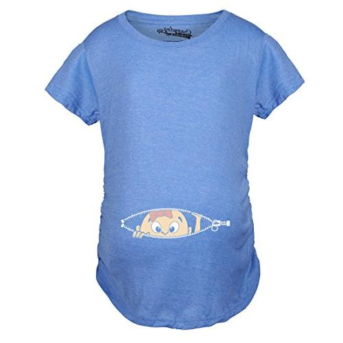 maternity baby girl peeking shirt funny pregnancy