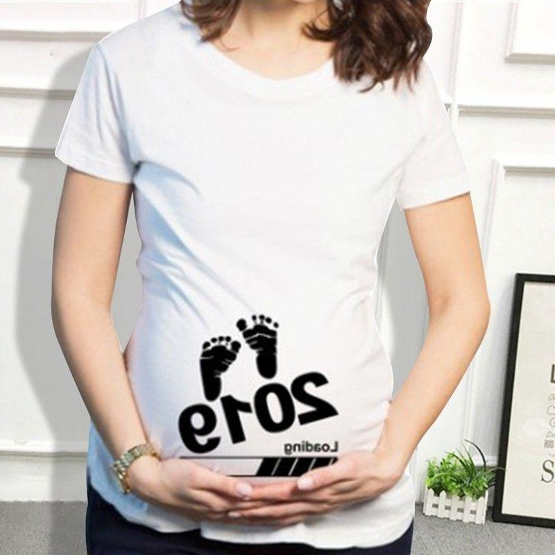 Maternity Footprint Funny Gift Top