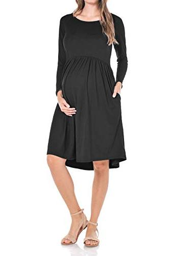 maternity loose fit dress made