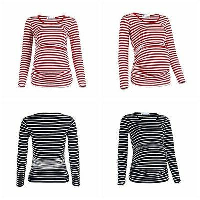 Maternity Striped Pregnant Tees Maternity Clothes