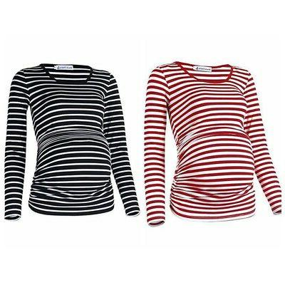 Maternity Striped Tops Pregnant Women Tees