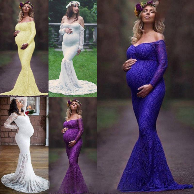 Womens Long Maxi Dress Gown Pregnancy