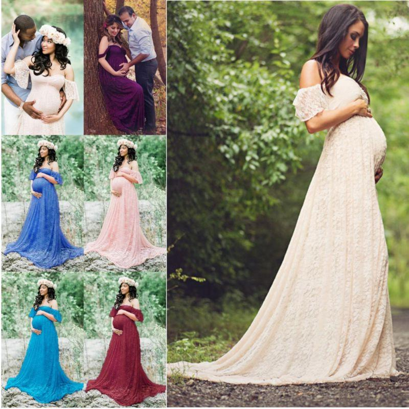 Photography Lady Off Shoulder Maxi Dress