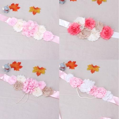 Maternity for Photo Shooting Flower Props Waistband