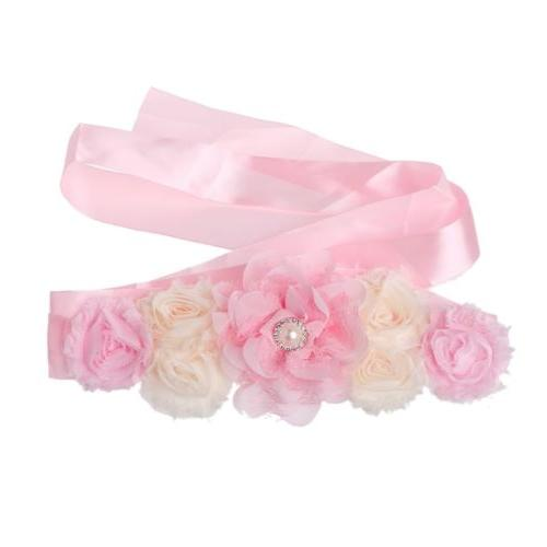 Maternity Sash Shooting Flower Props Waistband